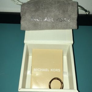 Michael Kors Jewelry - Michael Kors RoseGold Tone Pave CrissCross X Ring